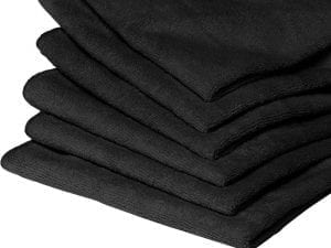 Auto-DNA BLACK MICROFIBER CLOTHS 10 PIECE BULK PACK - Microfiber