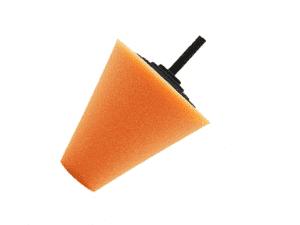 Auto-DNA Orange Medium Polishing Cone Foam Pad 80mm - Car