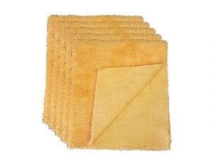 Auto-DNA Orange 380 gsm Edgeless 2 Face Microfiber towel - 5 Piece - Kitchen Towel