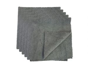 Auto-DNA Grey 300 gsm Edgeless Microfiber towel - 5 Piece - Stock photography